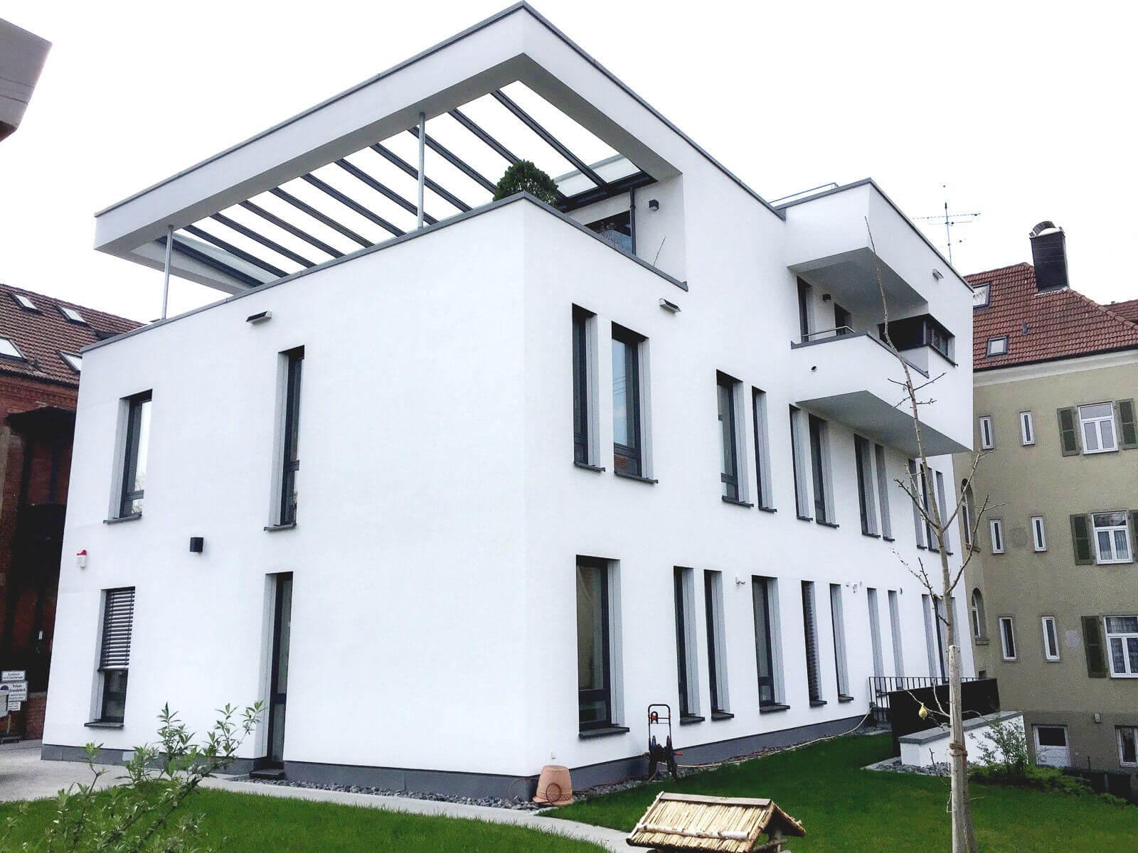Rückseite des Ärztehauses in Ludwigsburg