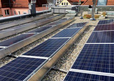 Solaranlage des Ärztehauses in Ludwigsburg