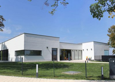 Gesamtansicht des Bildungszentrums in Wiernheim, Neubau