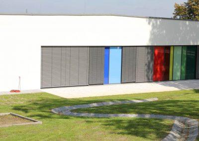 Garten des Bildungszentrums in Wiernheim, Neubau vom Architekturbüro KMR-Planer