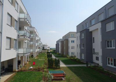 Rückseite, Neubau Mehrfamilienhäuser in Hemmingen