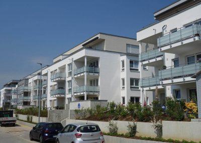 Balkonseite, Neubau Mehrfamilienhäuser in Hemmingen