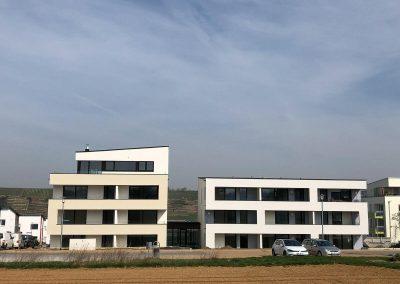 Frontalansicht, Neubau Mehrfamilienhäuser in Kirchheim