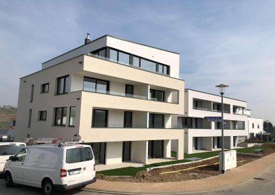 Seitenansicht, Neubau Mehrfamilienhäuser in Kirchheim vom Architekturbüro KMR-Planer