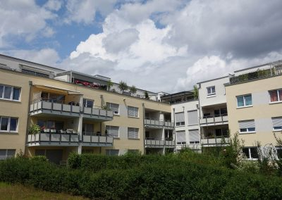 Balkonseite Neubau Mehrfamilienhäuser in Kornwestheim P 6