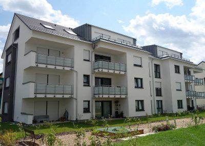 Balkonseite, Neubau Mehrfamilienhäuser in Kornwestheim