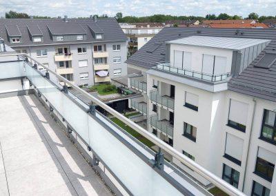 Blick vom Balkon in Neubau Mehrfamilienhäuser in Kornwestheim