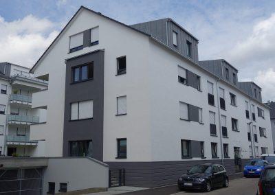 Straßenseite, Neubau Mehrfamilienhäuser in Kornwestheim