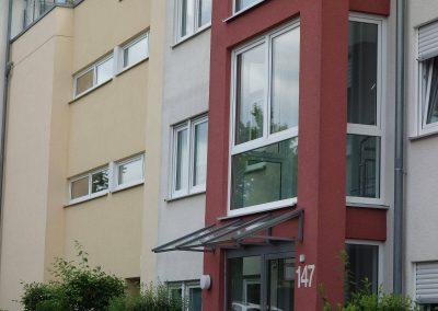 Eingang, Neubau Mehrfamilienhäuser in Kornwestheim