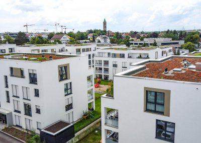 Von oben: Neubau Mehrfamilienhäuser in Leonberg vom Architekturbüro KMR-Planer