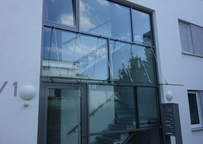 Eingang für Neubau Mehrfamilienhaus in Ludwigsburg