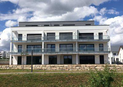 Balkonseite Neubau Mehrfamilienhäuser in Rennigen