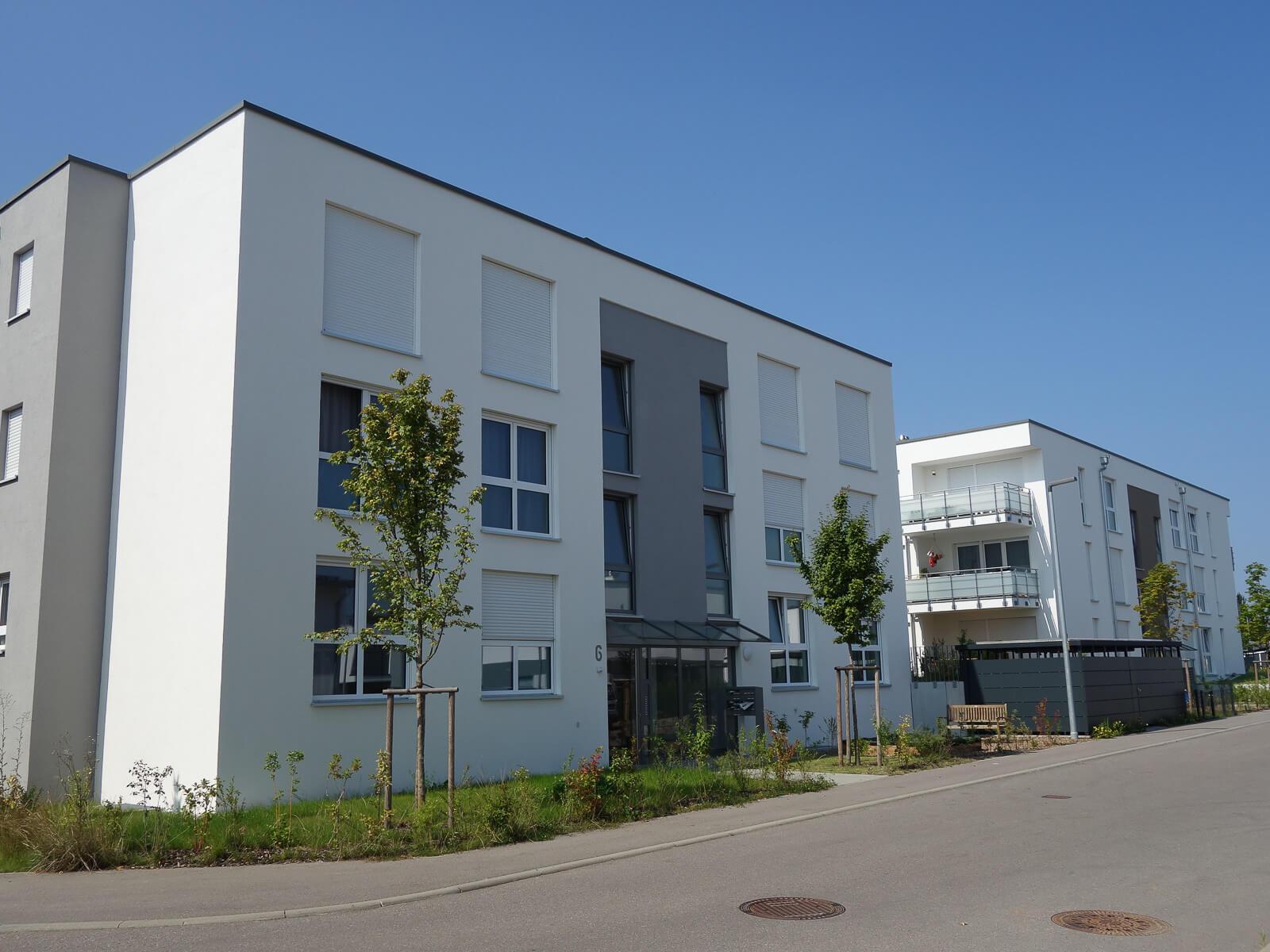 Mehrfamilienhäuser in Sachsenheim, Straßenansicht